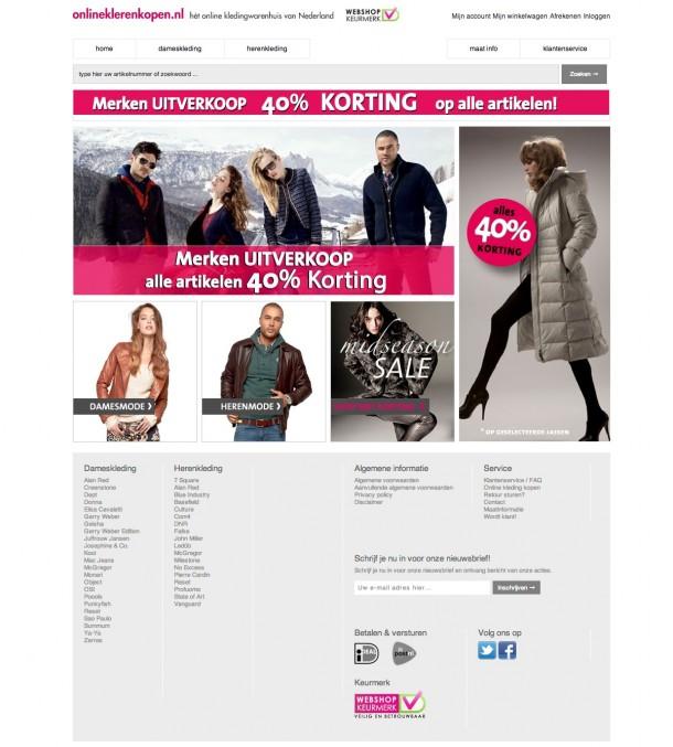 Online kleren kopen