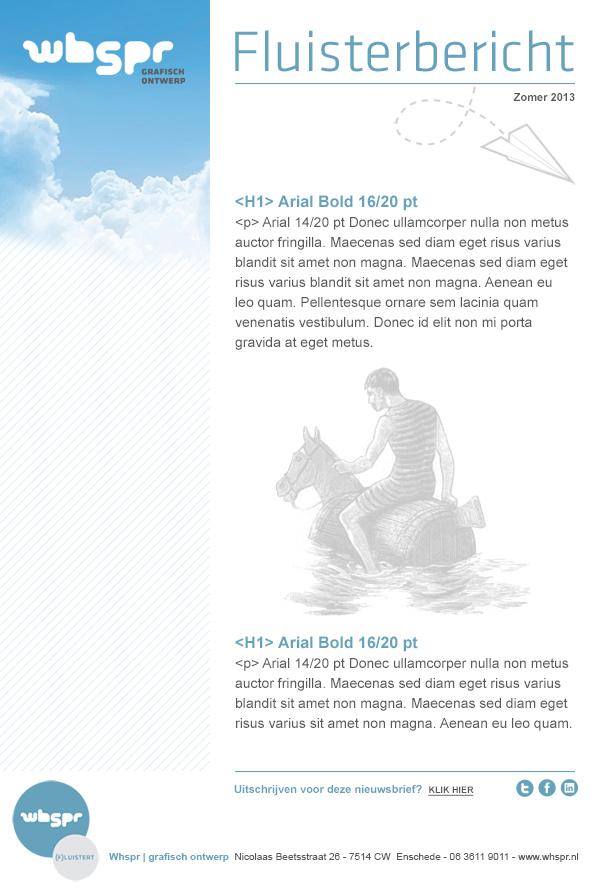 Whspr e-mail template