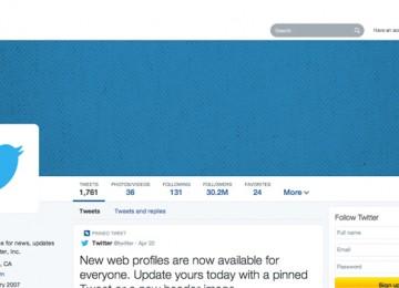 Nieuwe Twitter profiel pagina's