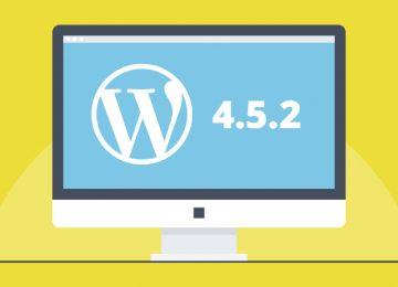 Wordpress 4.5.2 update beschikbaar