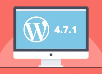 Wordpress 4.7.1 update beschikbaar
